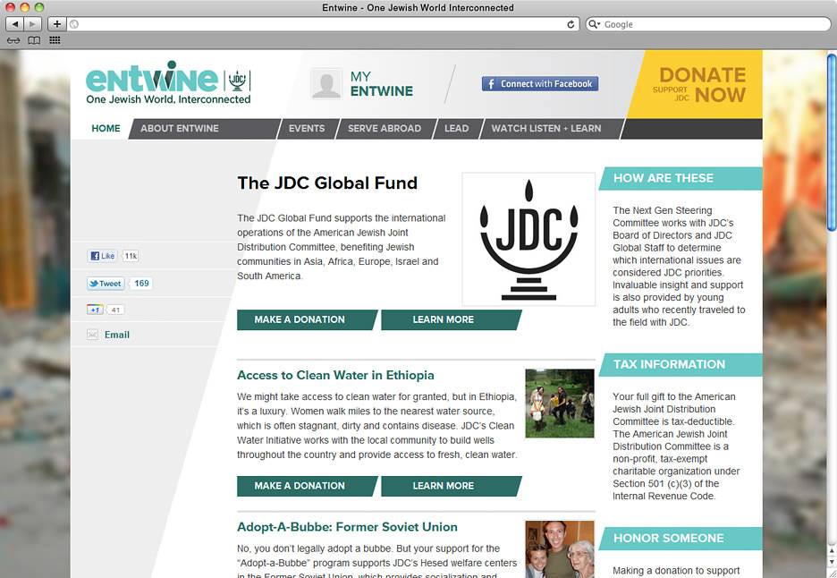 JDC Entwine donations