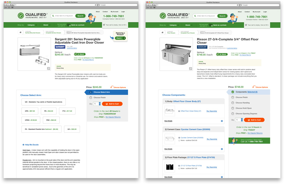 Qualified Hardware product pages