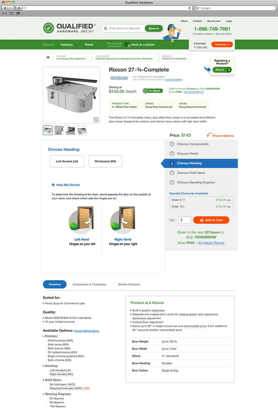 Qualified Hardware product page - full