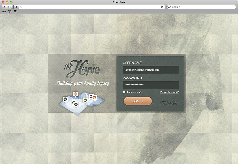 The Hyve login