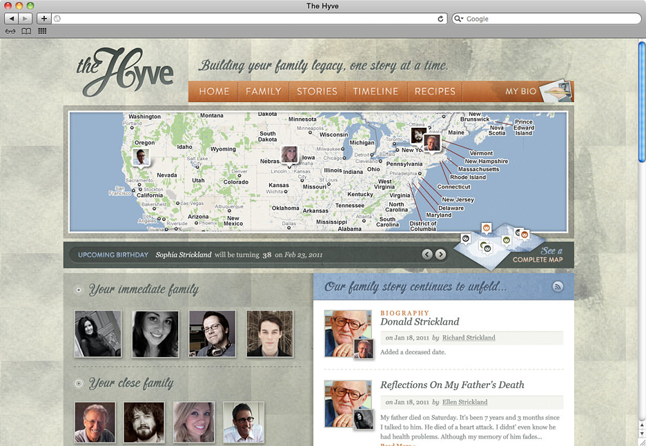 The Hyve homepage