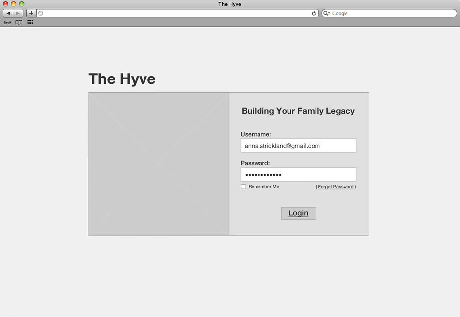 The Hyve wireframe